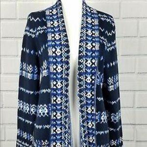 BCBGMAXAZRIA Amur Aztec Tapestry Cardigan